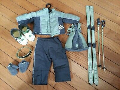 American girl ski set, outfit, accessories, complete ski set