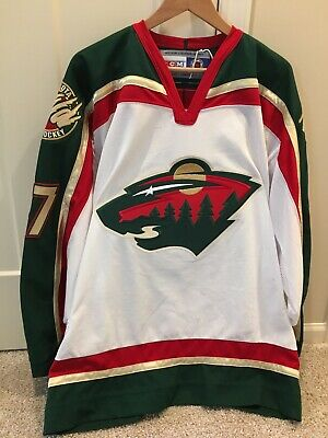 premium selection 1db0b df330 MINNESOTA WILD AUTHENTIC Home Team Issued Reebok Edge 2.0 ...