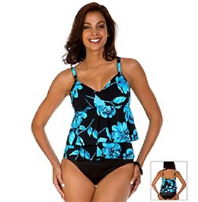 ae9be918132 Trimshaper by Miraclesuit Sheridan Rose Fauxkini 1 PC Swimsuit Size 14 or  16 NEW