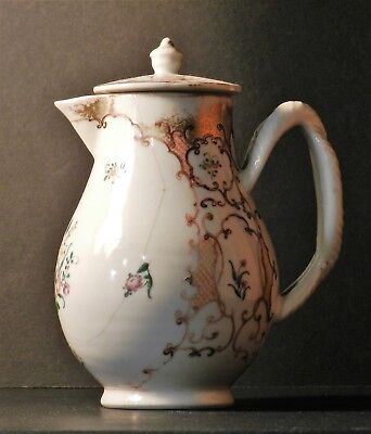 CHINESE EXPORT PORCELAIN 18th WATER OR MILK JUG PICHET PORCELAINE CHINE XVIII