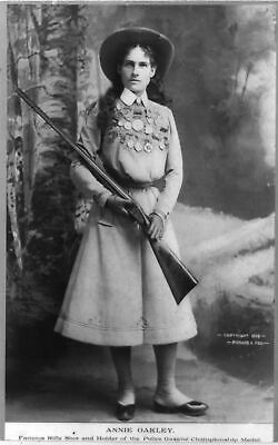 Old West Cowboy Vintage Antique Western Annie Oakley Photo Picture 8x10