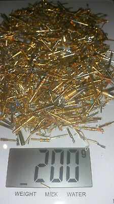 200 grams Gold Plated Pins gold recovery scrap (aircraft electronics)