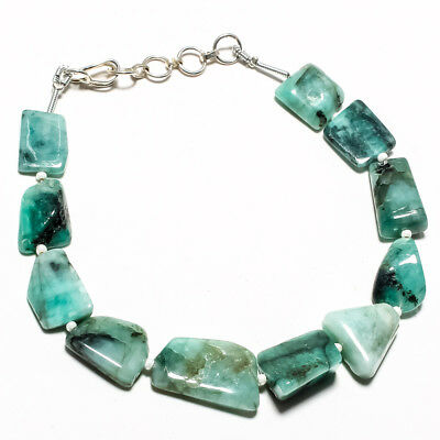 """Emerald Natural Gemstone Nuggets 15*11 Mm-14*10 Mm Length 8"""" 78 Ct."""