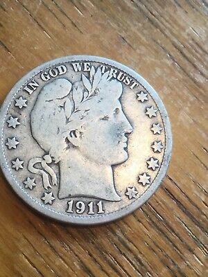 1911-S Barber Half Dollar Almost Fine- Over 100 Listed In My Store!