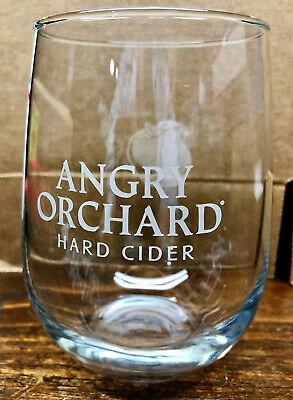 Angry Orchard Hard Cider Beautiful Stemless Wine Glasses