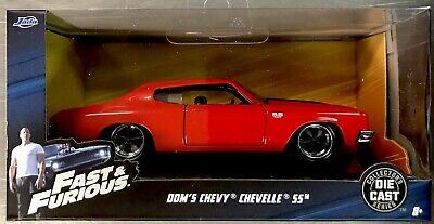 Jada Fast & Furious Dom's Chevy Chevelle Ss Red/Black Paint 1:32 Scale Free Ship