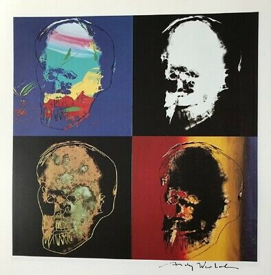 """Andy Warhol, """"Philip's Skull"""" Hand signed Print, 1986 With COA"""