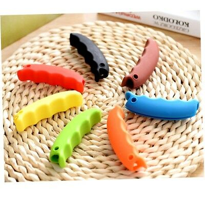 Silicone Shopping Bag Basket Carrier Grocery Holder Handle Comfortable Grip YY