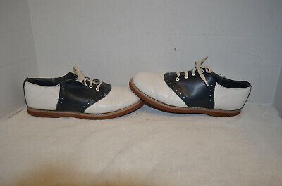Saddle Oxfords (Cheerleader Shoes) Black & White Womens Size 9 by Parker