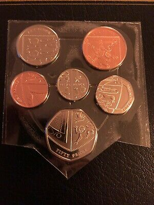 2015 Shield of Arms Coin Set, 1p - 50p,Bunc/Unc/Bu,5th Portrait,GB/UK,Royal Mint