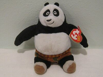 Ty Beanie Babies ~ PO the Bear ~ Kung Fu Panda DVD Exclusive ~ Stuffed Toy Plush