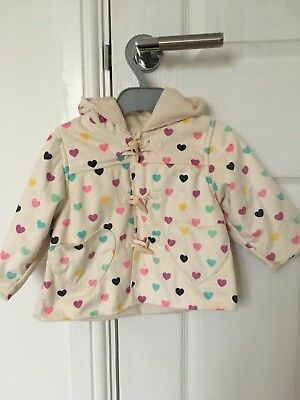 MOTHERCARE baby girls hooded jacket age 6-9 months
