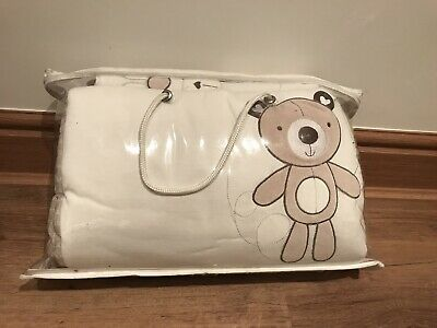 Cot Bumper And Quilt Set Neutral For Baby Cot