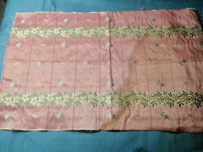 Antique French Silk Brocade Piece
