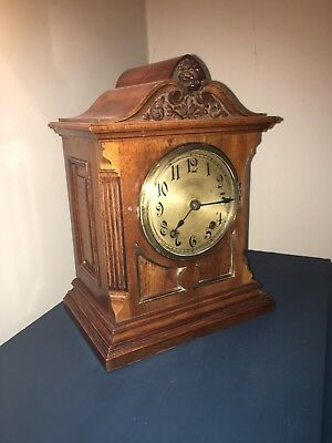Winterhalder Hofmeier W & H Walnut Mantle Clock Ting Tang Chiming