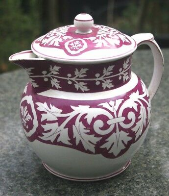 A rare early 19th century creamware Toast and Ware Jug and Lid, gothic printed