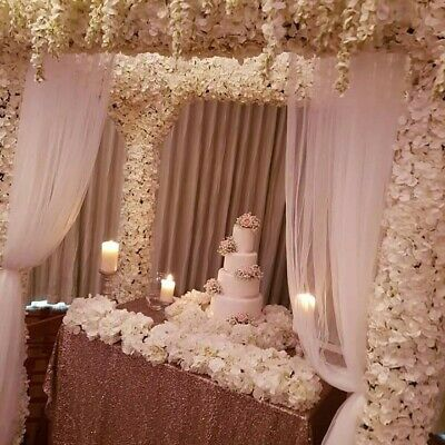 Luxury Wedding package centre pieces flowers and sequins