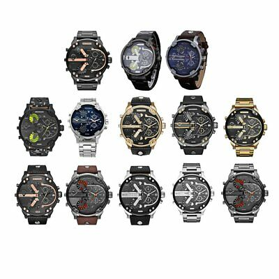Fashion Men Stainless Steel Analog Quartz Wrist Watch Bracelet Mens Watches AB