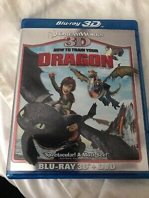 How to Train Your Dragon (Blu-ray/DVD, 2011, 2-Disc Set, 3D)