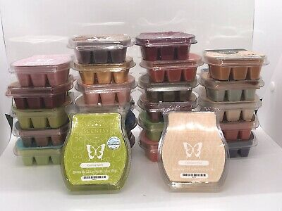 HUGE LOT of 31 Scentsy Wax Bars - NEW and Partial bars