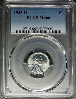 1943-D    STEEL Lincoln Cent    PCGS MS66