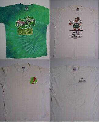 Vintage Lot of 4 St Patricks T Shirts George Killians Irish Red Coors Light Beer