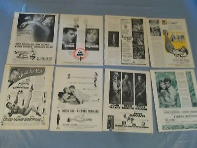 Big Lot of Vintage Movie ads various years & celebs   clippings   #D5