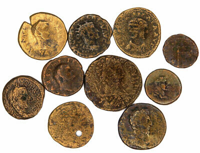 Group of 10 Ancient Roman Provincial Bronze Coins (10)