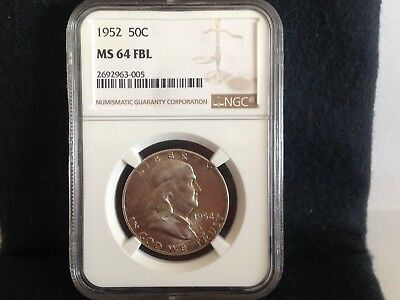 1952 50c NGC MS64 FBL - Franklin Half Dollar