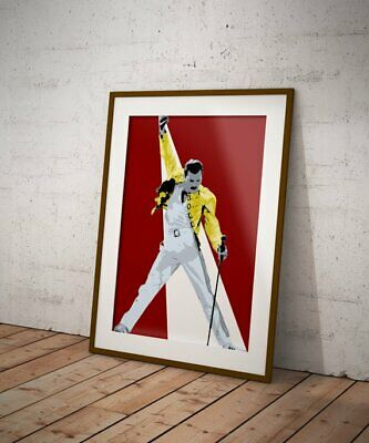 FREDDIE Freddy MERCURY QUEEN  Canvas Art  A4 , popart ,home,office