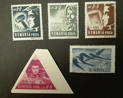 ROMANIA-RUMUNIA STAMPS MNH - Young Workers, 1948, **