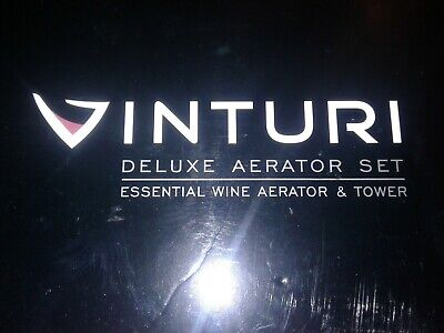 VINTURI DELUXE Red Wine Aerator Set With Tower Stand and Holder NEW in BOX