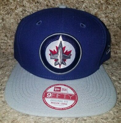 NWT NEW ERA Winnipeg Jets 9Fifty Snapback (Medium Large) Hat Cap NHL ... ac6e4707baf