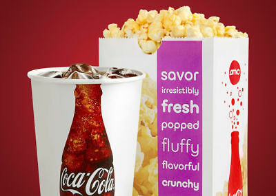AMC Movie Theatre 1 Black Label Ticket, 1 Large Fountain Drink, 1 Large Popcorn