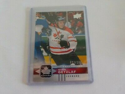 2017-18 UD Canadian Tire Team Canada Silver Exclusive #129 RYAN GETZLAF 23/100