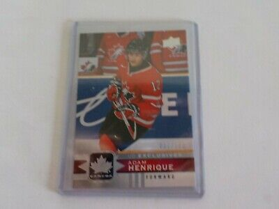 2017-18 UD Canadian Tire Team Canada Silver Exclusive #60 ADAM HENRIQUE 37/100