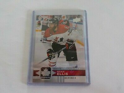 2017-18 UD Canadian Tire Team Canada Silver Exclusive #16 RYAN ELLIS 91/100