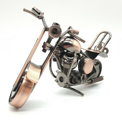 Exquisite wrought iron hand-welded motorcycle model a8027
