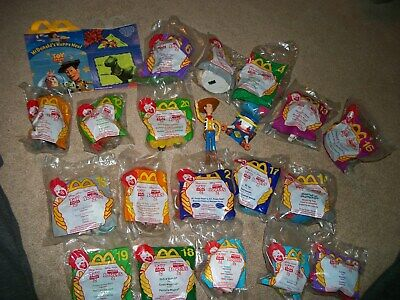 Toy Story 2 Mcdonalds Happy Meal Toys 18 Mip! & H.m. Box