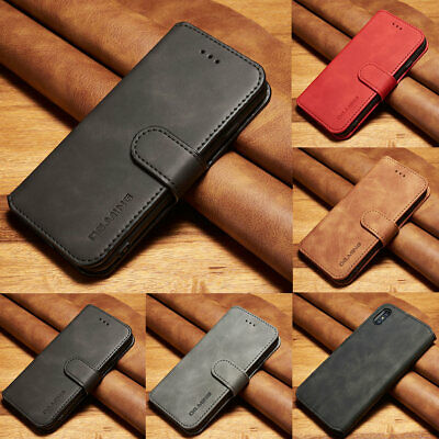 Retro Leather Wallet Stand Card Case Flip Cover For Apple iPhone XS Max XR X 8 7