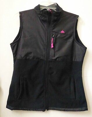 Snozu Performance Women Vest Petites Size PM Lightweight Stand Collar Zip Pocket