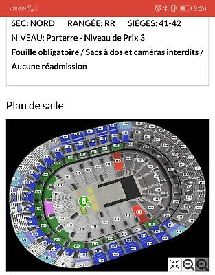 2 Tickets Ariana Grande centre bell Montreal 01/04 FLOOR  NORD RR