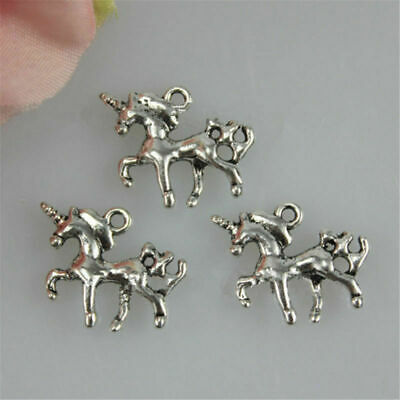 10pcs 20mmx15mm Unicorn Charms Pendants Jewelry Necklace Making DIY Crafts Gifts
