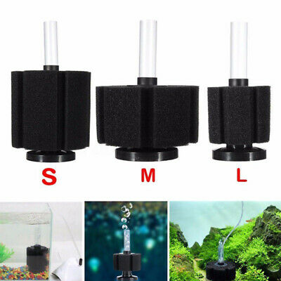 Aquarium Fish Tank Biochemical Sponge Foam Bio Filter Oxygen Fry Air Pump DSI
