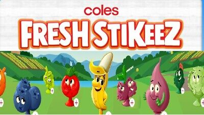 Coles Fresh Stikeez - Many to Choose from