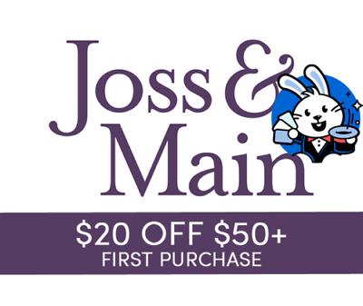 $20 off $50 Joss & Main Purchase for NEW Customers--FAST Online Delivery!