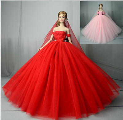 3 PCS Fashion Princess Party Dress/Evening Clothes/Gown For Barbie Doll
