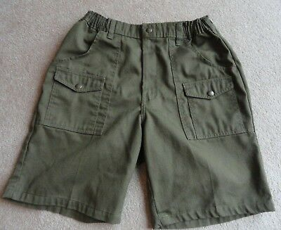 Official Boy Scouts of America Shorts Olive Green Size 33