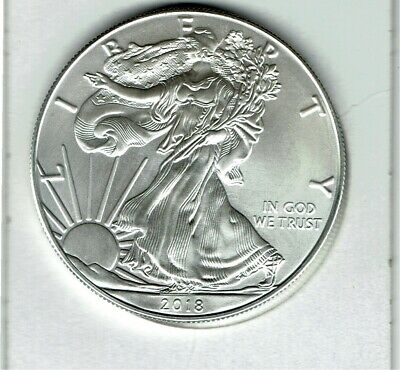 Lot of 2 US Silver Eagles 2018 & 2019 .999 Fine Excellent Condition 2 Oz Total