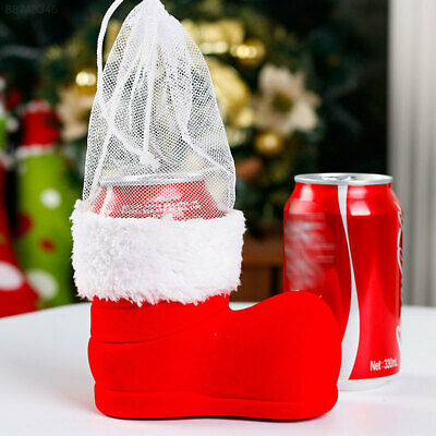 DDAA Christmas Wine Cola Bottle Boots Xmas Candy Gifts Bag Ornament Decoration